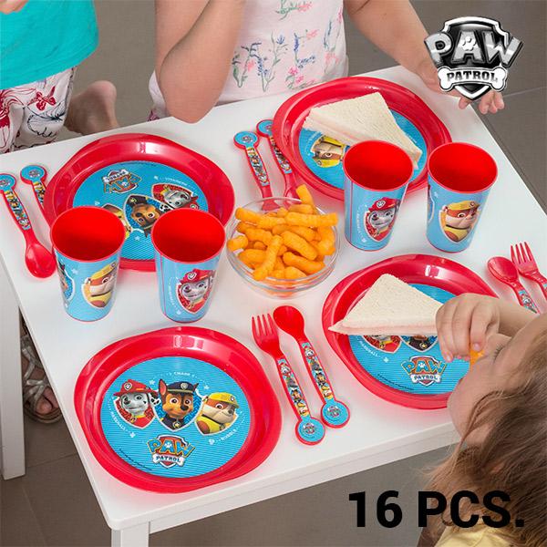 Vaisselle pour Enfants PAW Patrol : La Pat' Patrouille (16 pièces)