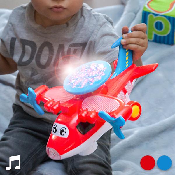 Letalo Igrača z Lučmi in Zvokom - Modra