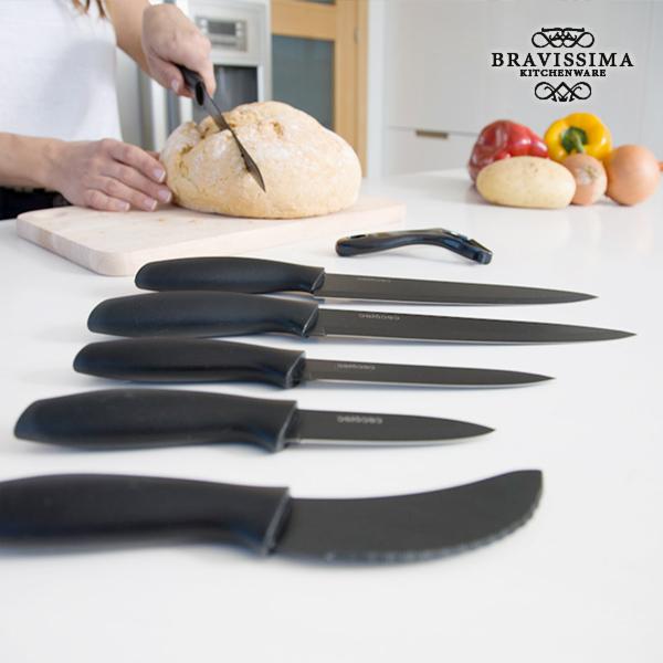 Bravissima Kitchen Professzionális Kerámia bevonatos Titánium Késkészlet (7 darab)