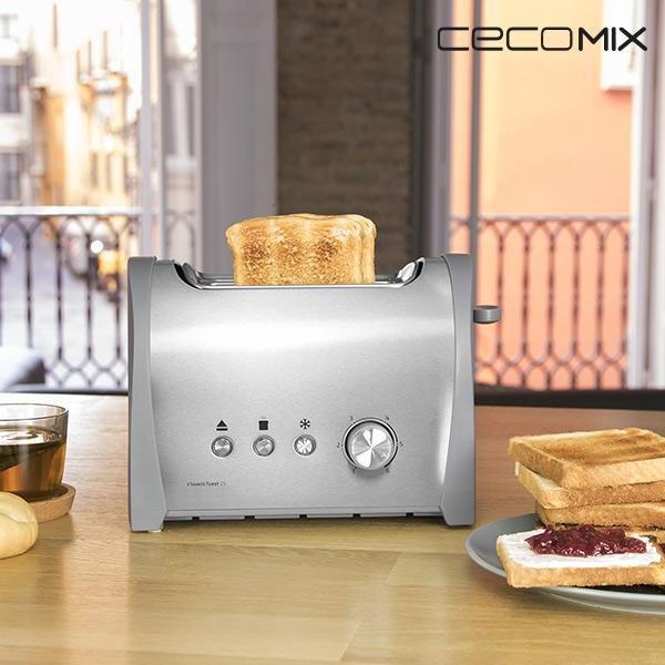 Cecomix Steel 2S 3035 800W Kenyérpirító