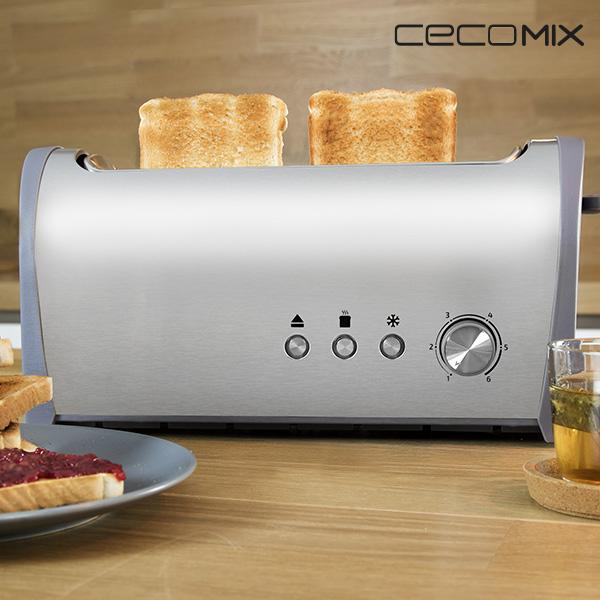Cecomix Steel 1L 3036 1000W Kenyérpirító