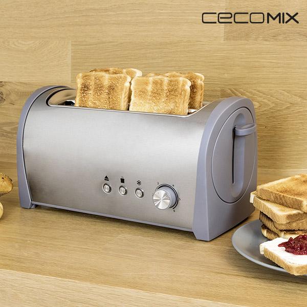 Cecomix Steel 2L 3037 1400W Kenyérpirító