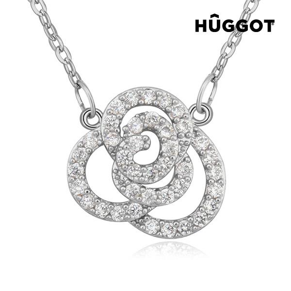 Lotto Hûggot  ródiumozott nyakék cirkóniakövekkel (45 cm)