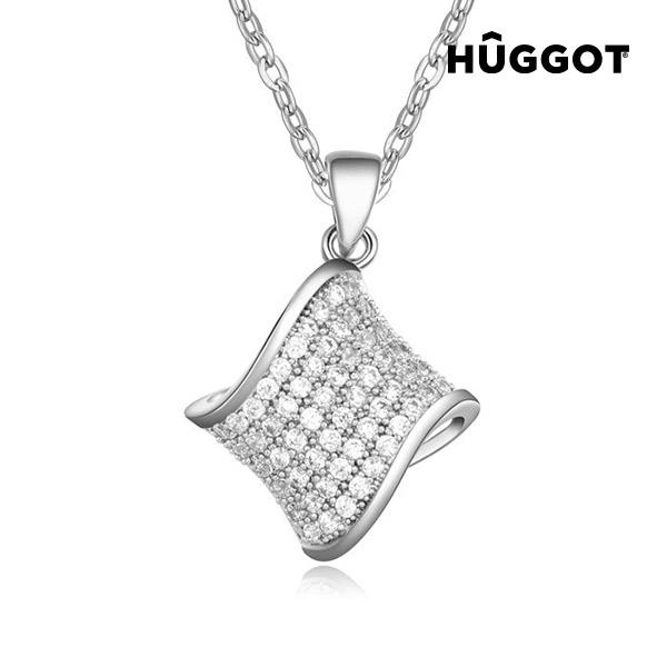 Hamper Hûggot ródiumozott nyakék cirkóniakövekkel (45 cm)