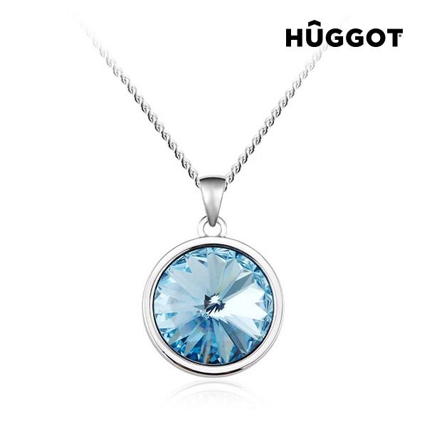 Blue Diamond Hûggot ródiumozott nyakék Swarovski® kristályokkal (45 cm)
