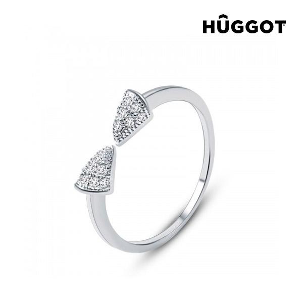 Egyptian Hûggot állítható 925 sterling ezüst gyűrű cirkóniával