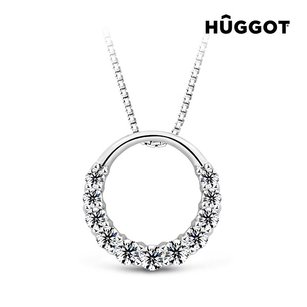 Gala Hûggot 925 sterling ezüst nyakék cirkóniakövekkel és Swarovski® kristályokkal (45 cm)
