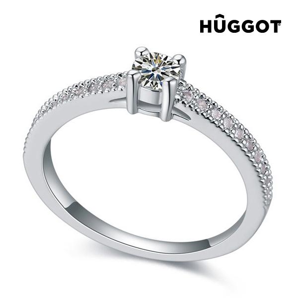Love Hûggot ródiumozott gyűrű cirkóniakövekkel