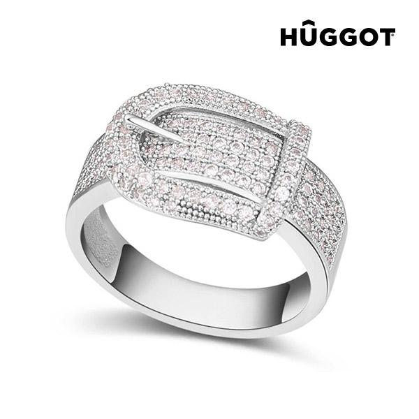 Belt Hûggot ródiumozott gyűrű cirkóniakövekkel