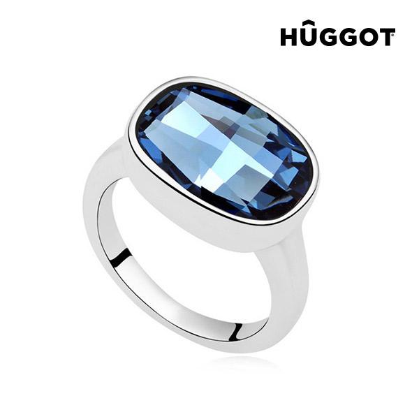 I´m Blue Hûggot ródiumozott gyűrű Swarovski® kristályokkal