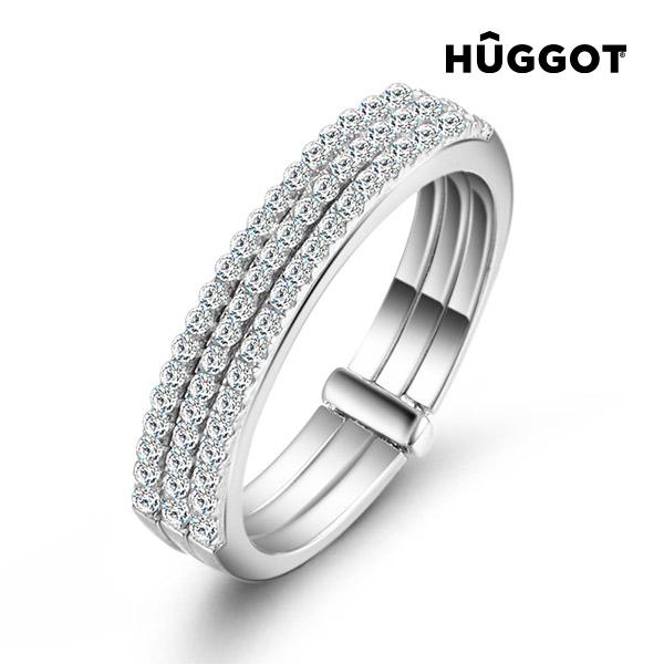 Three Hûggot 925 sterling ezüst gyűrű cirkóniakövekkel