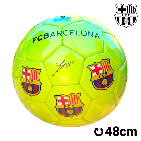 Balón de Fútbol Mediano Amarillo F.C. Barcelona (1)