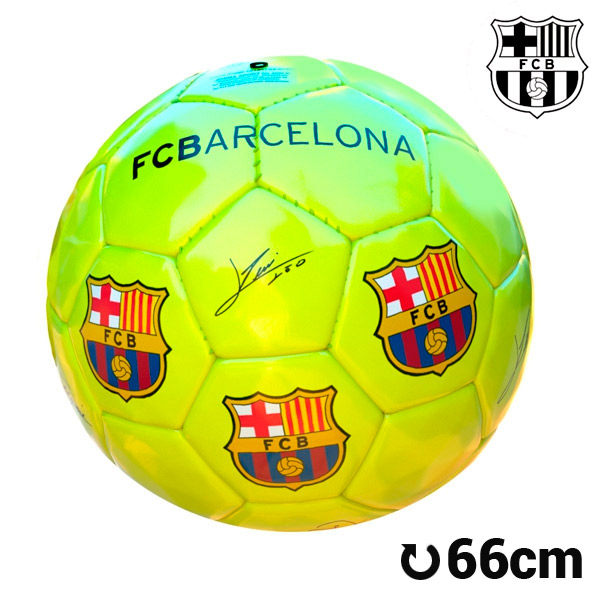 Balón de Fútbol Grande Amarillo F.C. Barcelona