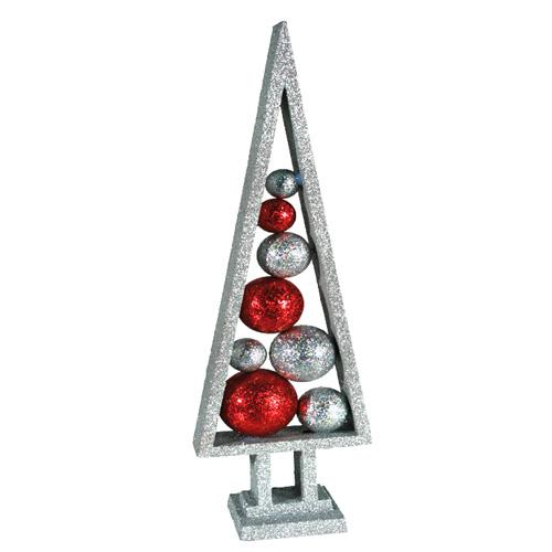 Arbol de Navidad con Bolas y Purpurina H2500198