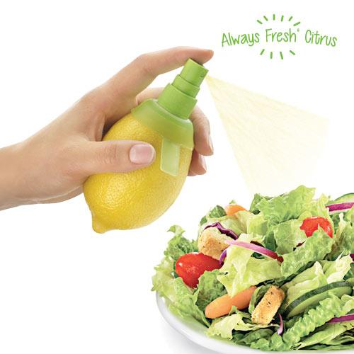 Ožemalnik za Limone z Razpršilcem Always Fresh Citrus - Oranžne barve