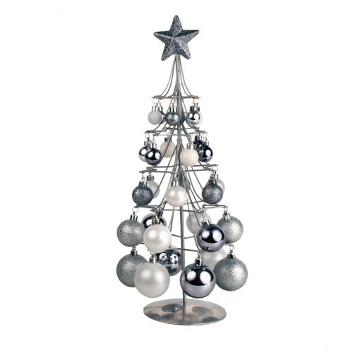 Arbol de Navidad Plateado con Bolas H2500197
