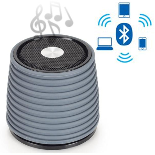 Altavoz Bluetooth Recargable AudioSonic Gris I3505182