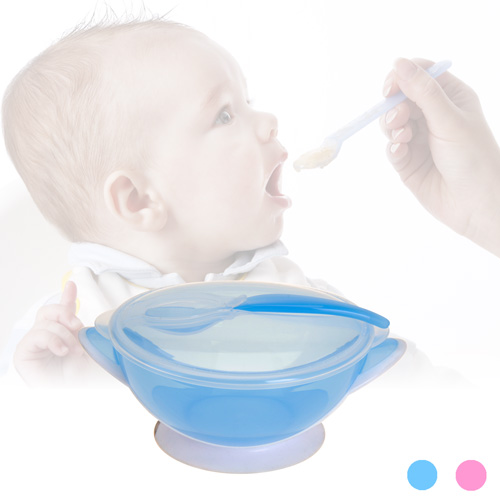 Bol de Comida para Bebes Rosa F1600023