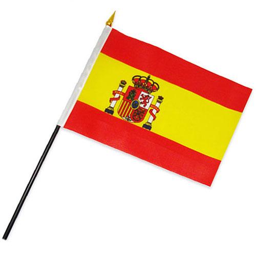 Bandera de España con Asta (30 x 45 cm) H2500131