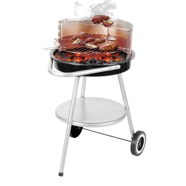 Kerekes Faszenes Barbecue Állítható Rácsmagassággal