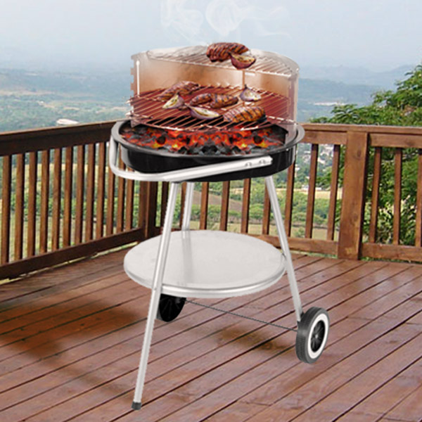 Barbecue a Carbonella con Ruote con Griglia Regolabile 7569000741250  02_D2505005