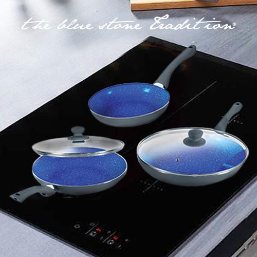 Sartenes Revestimiento Piedra Blue Stone Pan (5 Piezas) Rojo B1015132