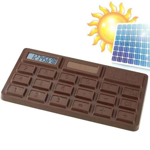 Calculadora Solar Tableta de Chocolate H3505100