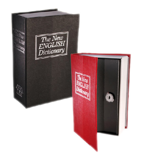 Caja de Caudales Camuflada en Libro Diccionario Negro H3515111