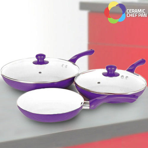 Sartenes Ceramic Chef Pan (5 Piezas) Amarillo B1015127
