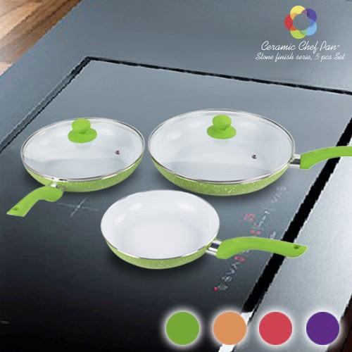 Sartenes Ceramic Chef Pan Stone Edition (5 Piezas) Morado B1015142