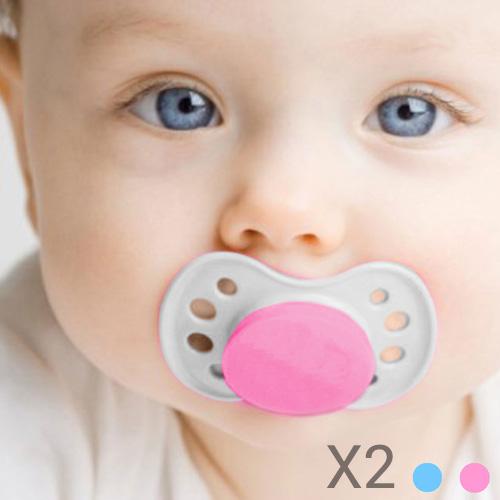 Chupetes para Bebes (pack de 2) Rosa F1600012