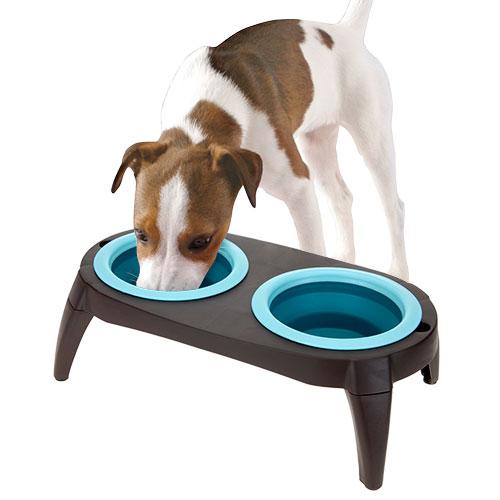 Comedero para Perros Doble Azul D4500122