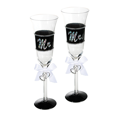 Copas de Champagne Mr & Mrs H2000140