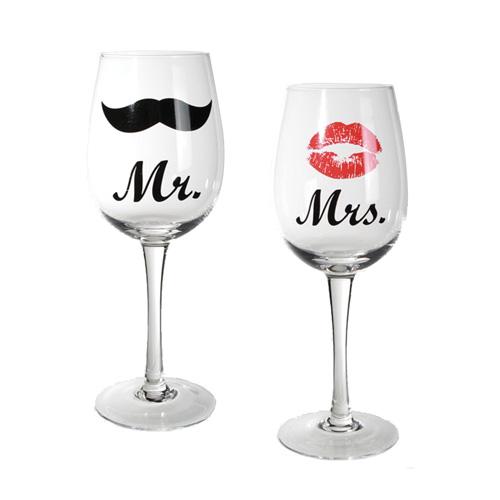 Mr és Mrs Feliratú Boros Poharak