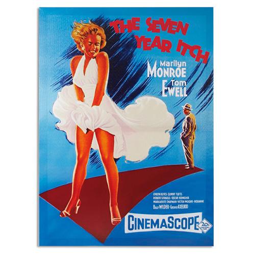 Marilyn Monroe Sedem Let Skomin Slika na Platnu 50 x 70