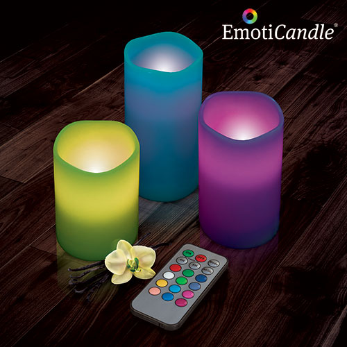 Velas LED EmotiCandle (pack de 3) D3000170
