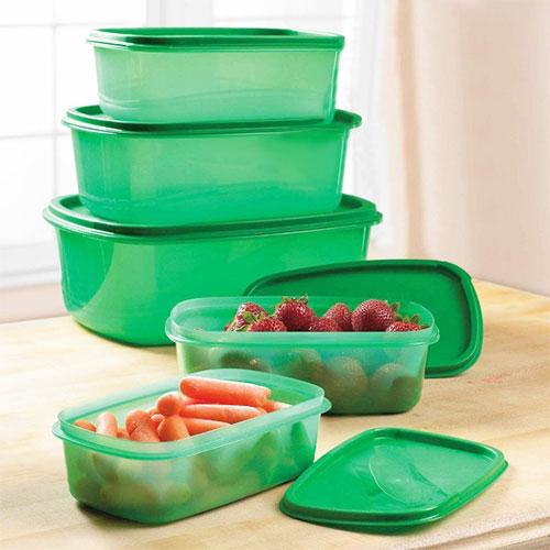 Envases de Plastico Alimentos Siempre Frescos (5 piezas) B1010108