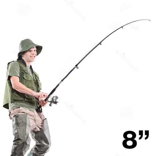 Ensemble Canne à Pêche 2,4 m/8 pouces