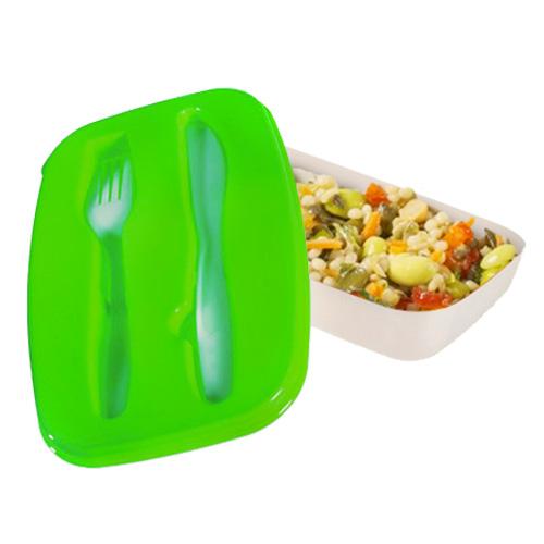 Fiambrera con Cubiertos de Plastico B1010126