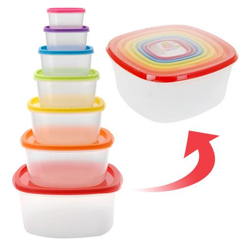 Fiambreras Tapas Colores (7 piezas) B1010125
