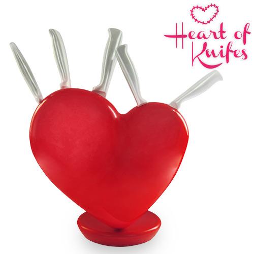 Juego de Cuchillos Soporte Corazon Heart of Knifes B1005118