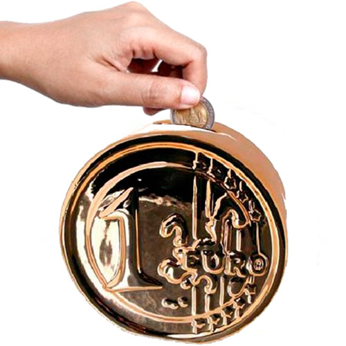 Hucha de Ceramica Moneda de Euro H3515105