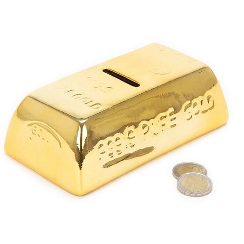 Hucha de Ceramica Lingote de Oro H3515102