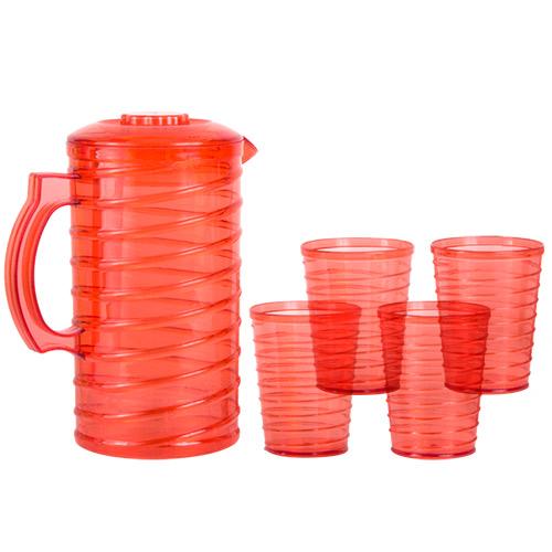 Jarra con 4 Vasos de Plastico B1020198