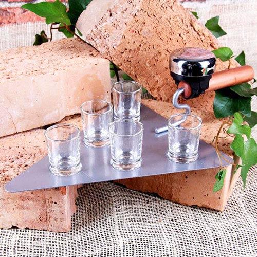 Juego Chupitos Paleta Albañil con 5 vasos y timbre H4510106