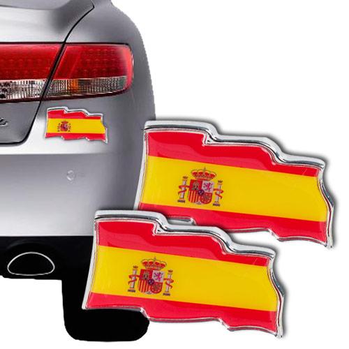 Pegatinas para Coches Bandera de España (pack de 2) H2500140