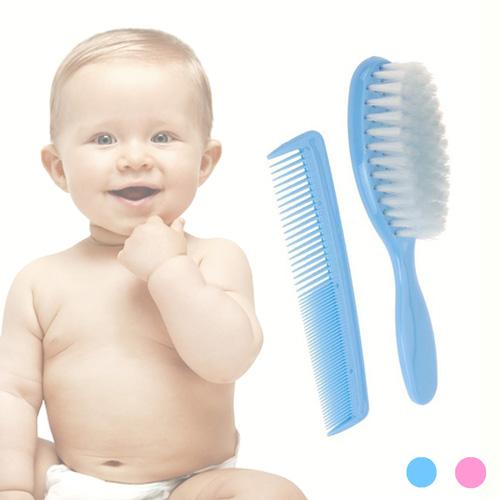 Peine y Cepillo para Bebes Rosa F1600019