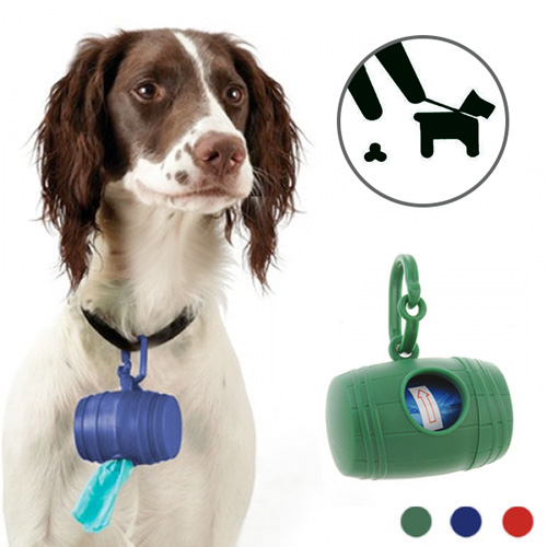 Dog Poop Bag<br> Holder (with 15<br>Bags)
