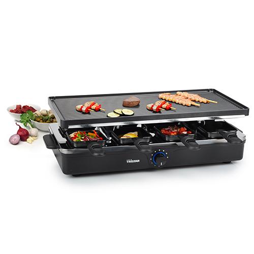 Raclette 8 Serpenyő | Dupla Grill Lap | Tristar RA2995
