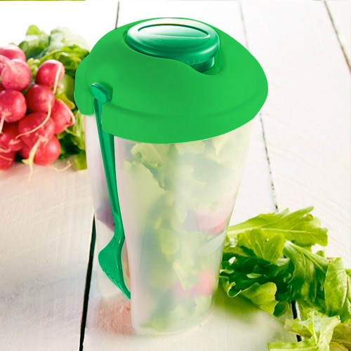 Plastik<br> Salatschüssel<br>Salad to Go